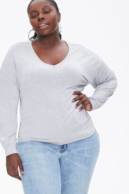 Plus Size Active Heathered Top, image 1