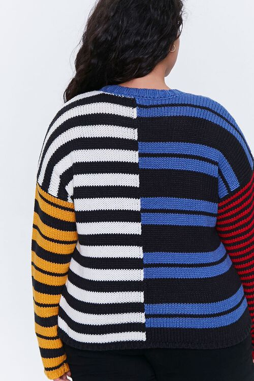 Plus Size Reworked Striped Sweater, image 3