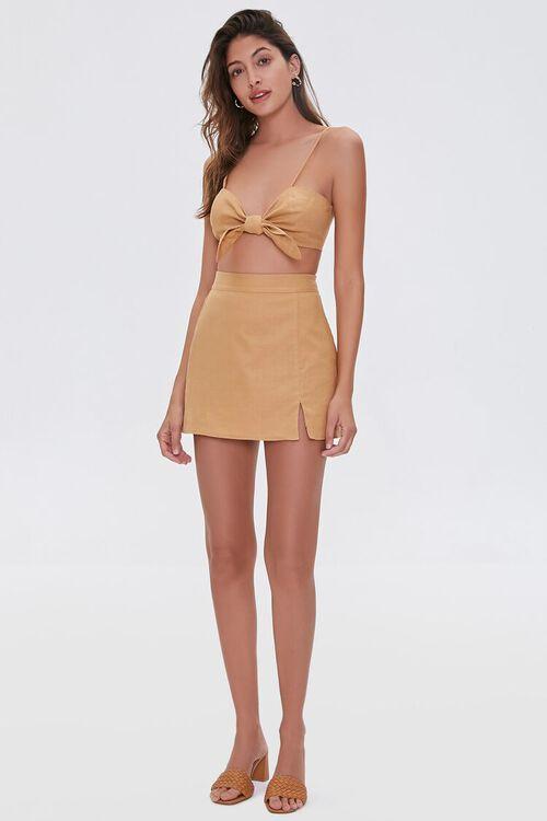 Linen-Blend Skirt, image 5