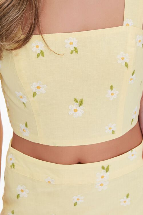 Floral Embroidered Crop Top, image 5