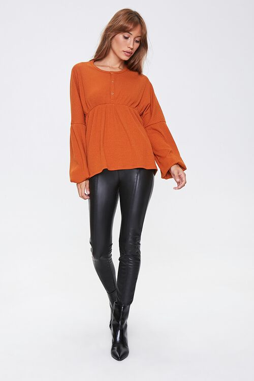 Ribbed Bell-Sleeve Top, image 4