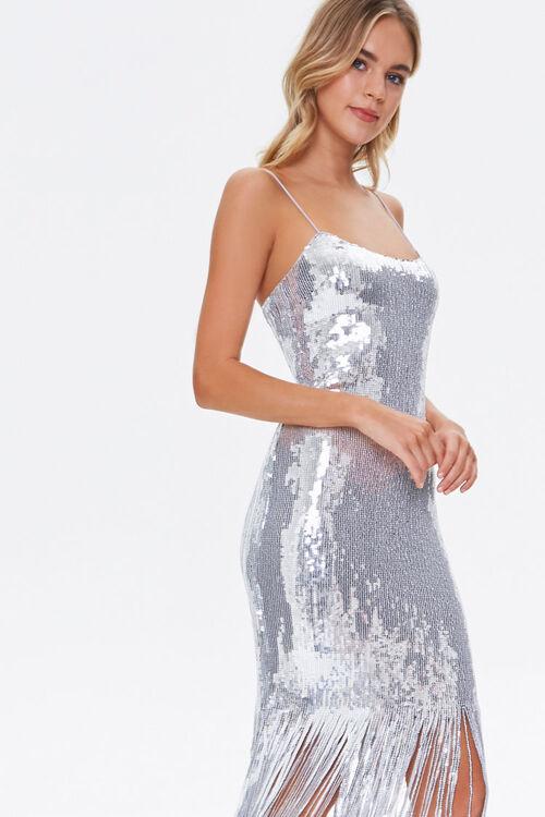 Sequin Fringe Cami Dress, image 5