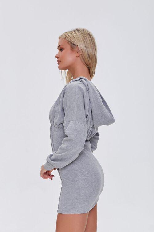 HEATHER GREY Zip-Up Hoodie Dress, image 2