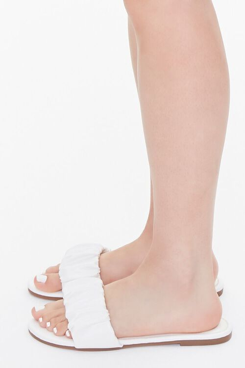 Faux Leather Ruched Sandals, image 2