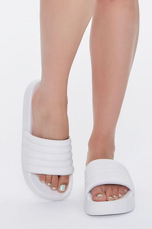 Quilted Slide Sandals, image 4