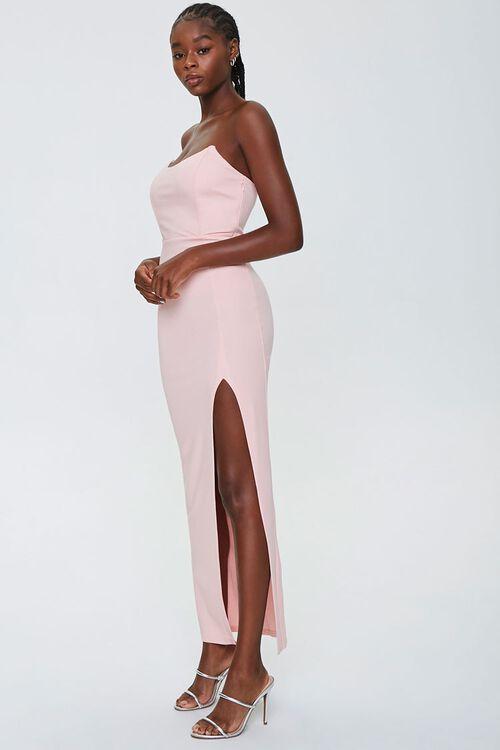 Strapless Slit Maxi Dress, image 2