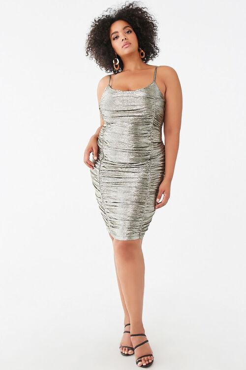 Plus Size Metallic Pin Dot Dress, image 4