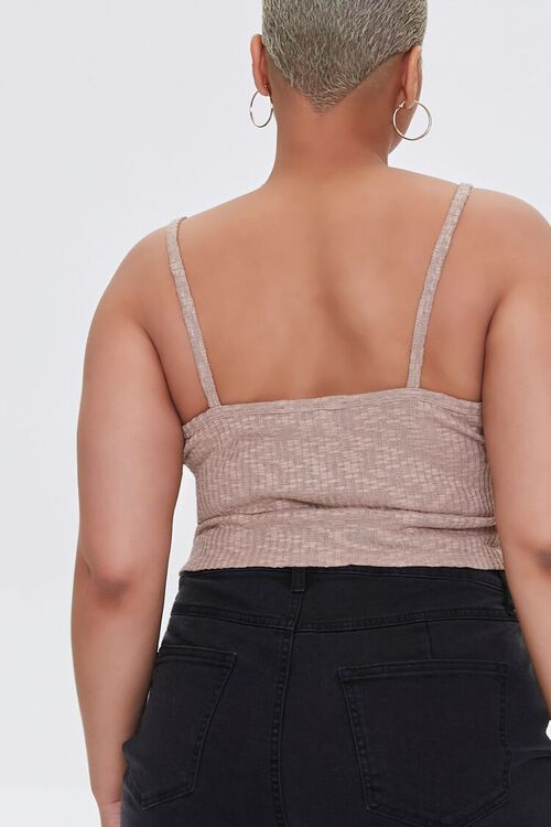 Plus Size Ribbed Lace-Up Cropped Cami, image 3