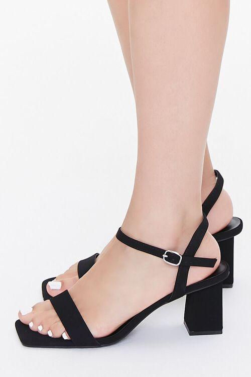 Square-Toe Ankle-Strap Block Heels, image 2