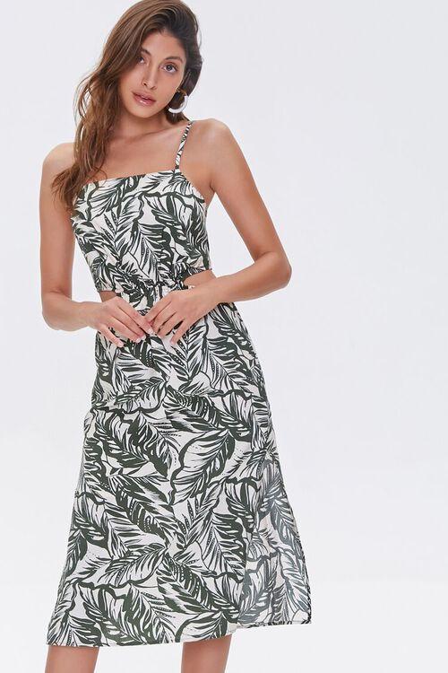 Tropical Print Cutout Dress, image 1
