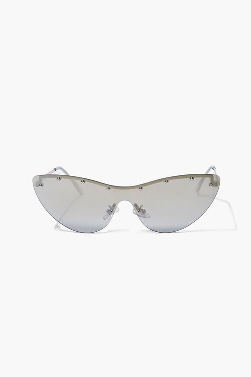Studded Mirror Cat-Eye Sunglasses, image 3