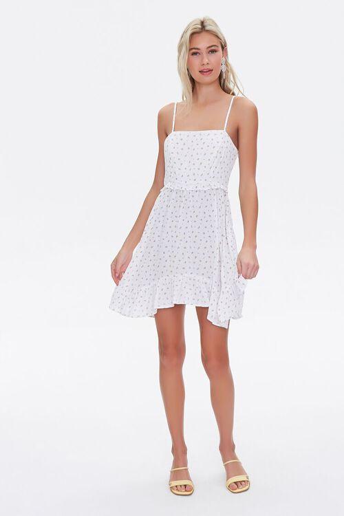 Floral Print Lace-Up Mini Dress, image 4