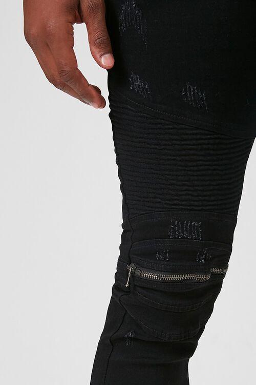 Zippered Moto Skinny Jeans, image 5