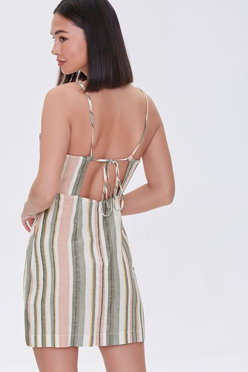 Striped Mini Cami Dress, image 1