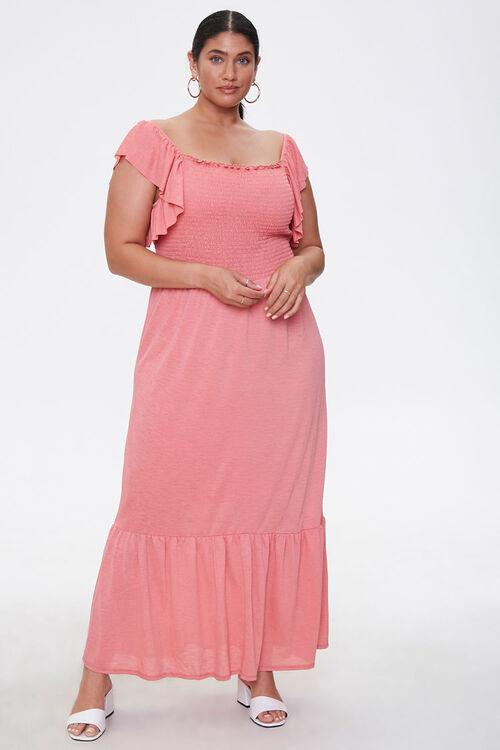 Plus Size Smocked Maxi Dress, image 4