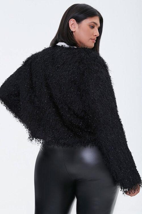 Plus Size Shaggy Open-Front Jacket, image 3
