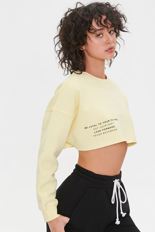 Be Loyal To Your Future Cropped Pullover, image 1