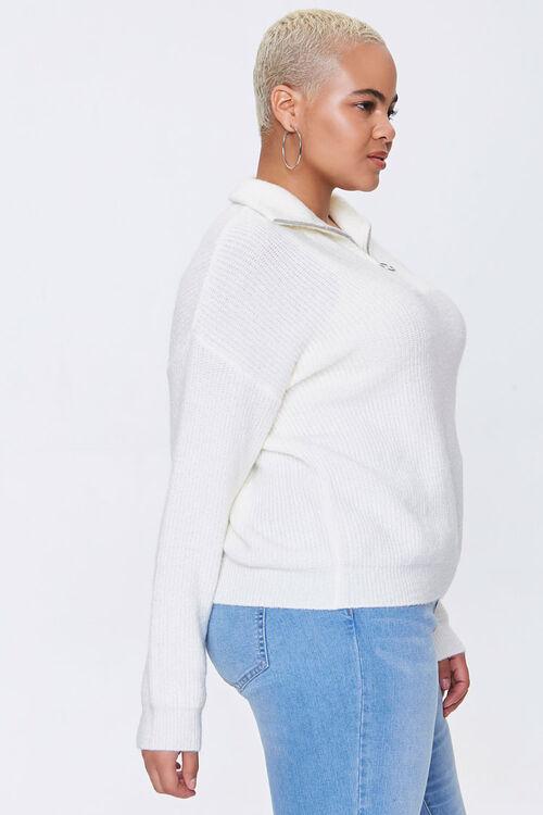 Plus Size Ribbed Mock Neck Sweater, image 2