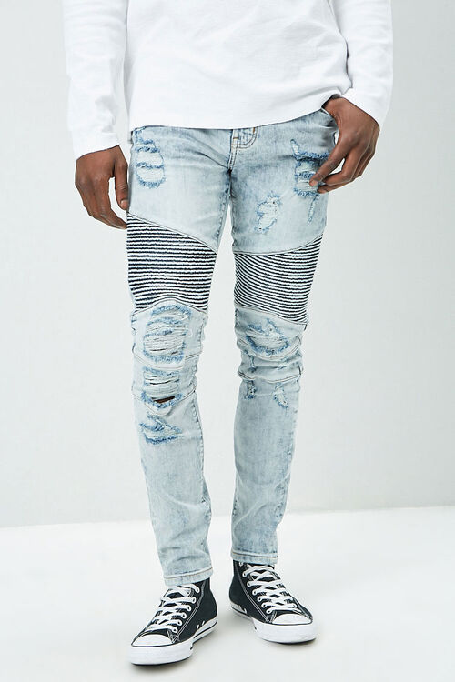 Distressed Moto Jeans, image 2