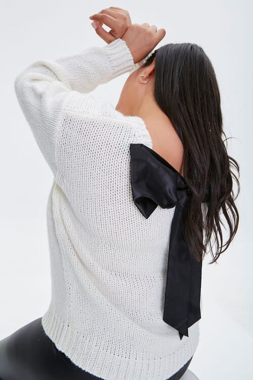 Plus Size Bow Sweater, image 1