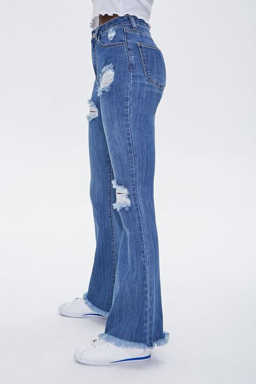 Frayed Distressed Flare Jeans, image 3