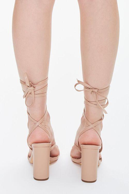 Strappy Wraparound Block Heels, image 3