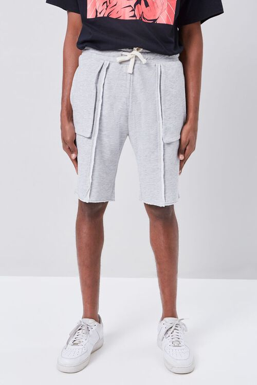 Heathered Twill Drawstring Shorts, image 2