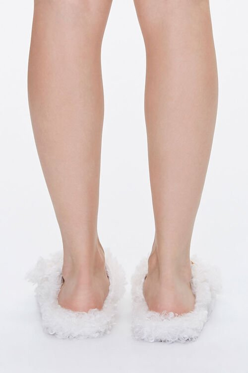 Faux Sheepskin Buckled Slippers, image 3