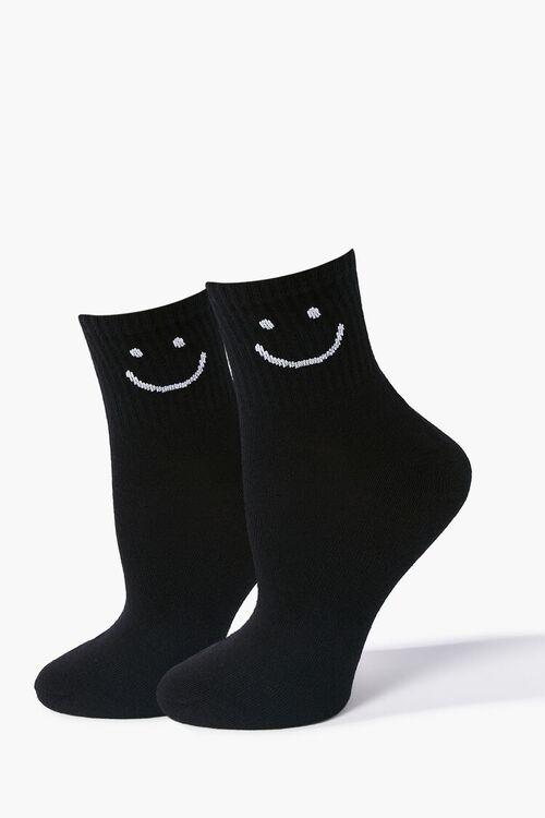 Smiling Graphic Crew Socks, image 1
