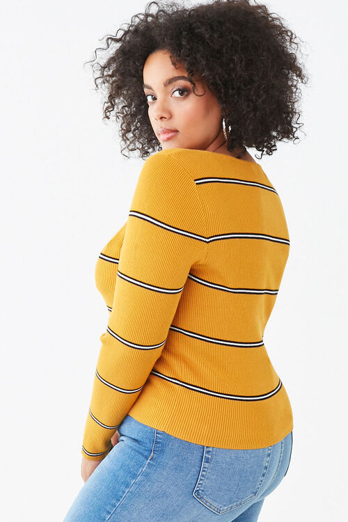 Plus Size Striped Sweater, image 2
