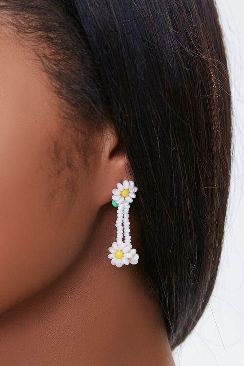 GOLD Daisy Charm Drop Earrings, image 1