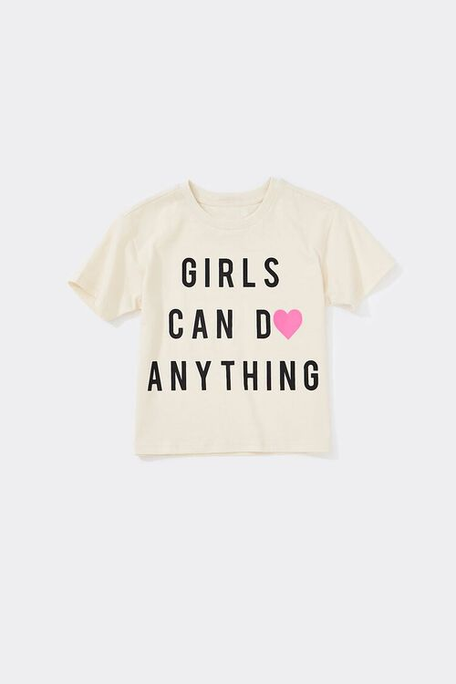Girls Girls Can Do Anything Graphic Tee (Kids), image 1