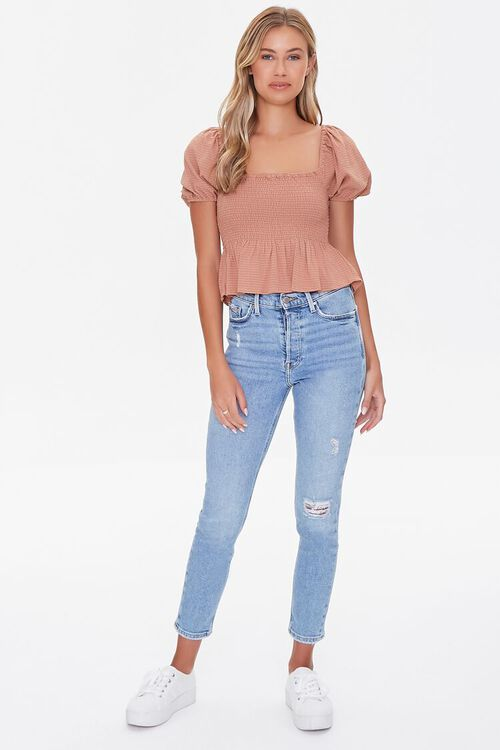 Striped Puff-Sleeve Top, image 4