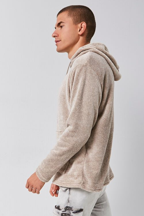 Fuzzy Marled Hooded Sweater, image 2