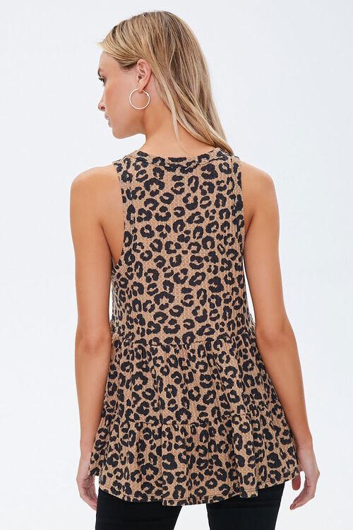 Leopard Print Flounce Tank Top, image 3