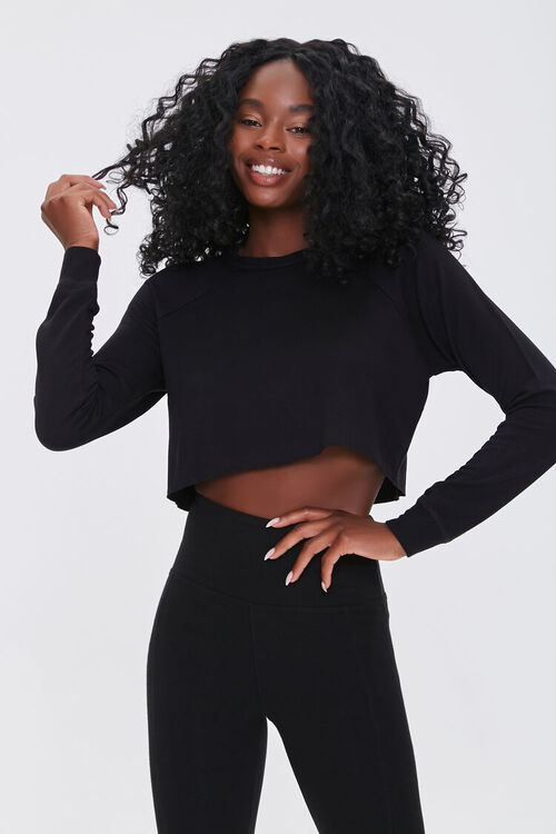 Active French Terry Crop Top, image 1