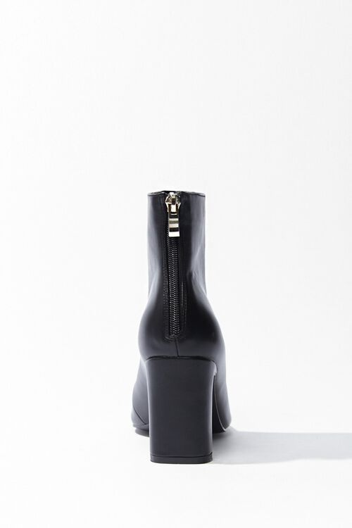 Faux Leather Square Toe Booties, image 2