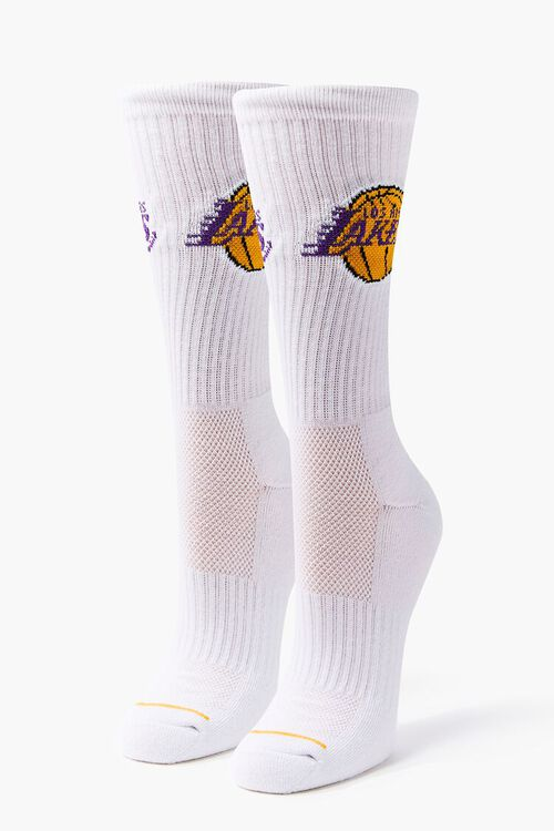 Women Los Angeles Lakers Crew Socks, image 3
