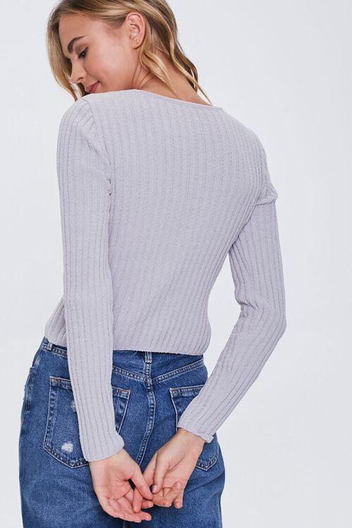 Ribbed Knit V-Neck Sweater, image 3