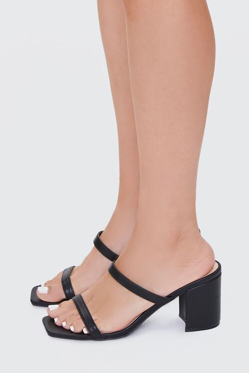 BLACK Metallic Slip-On Block Heels, image 2