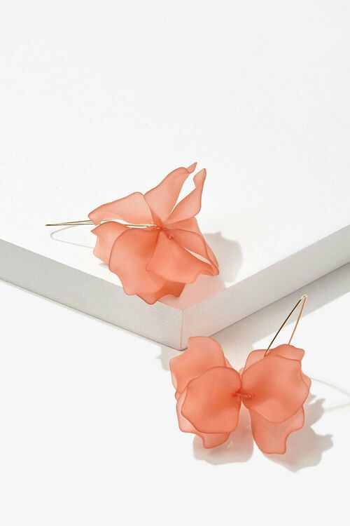 Floral Wire Drop Earrings, image 2