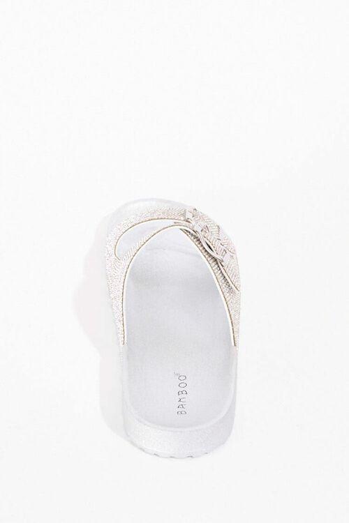 Metallic Dual-Strap Sandals, image 2