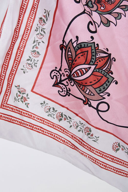 Ornate Floral Square Scarf, image 2