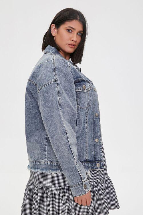 Plus Size Denim Button-Front Jacket, image 2