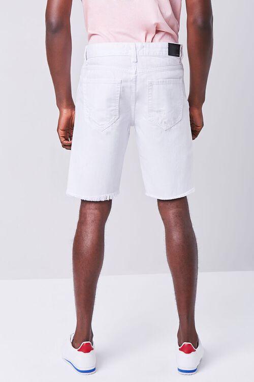 WHITE Distressed Denim Shorts, image 4