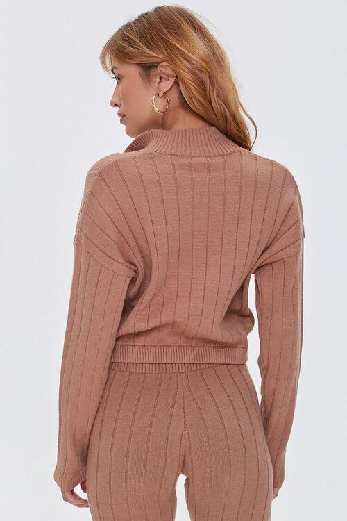 Ribbed Half-Zip Sweater, image 3