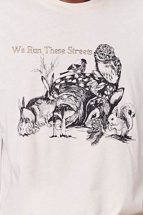 TAUPE/MULTI Organically Grown Cotton Graphic Tee, image 5