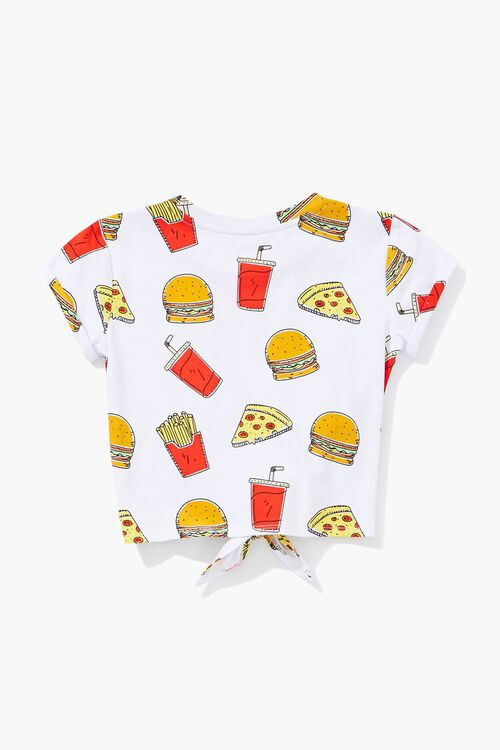 Girls Food Print Knotted Tee (Kids), image 2