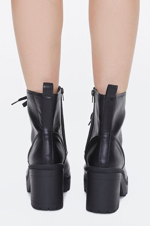 Lace-Up Faux Leather Booties, image 3