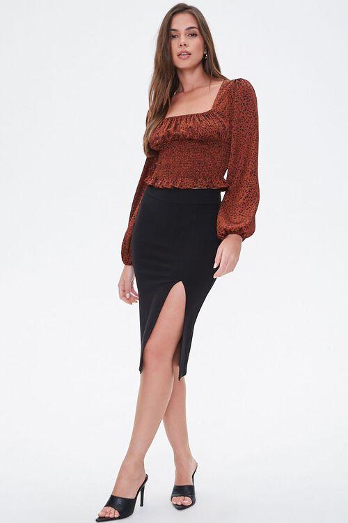 High-Slit Seamed Bodycon Skirt, image 4